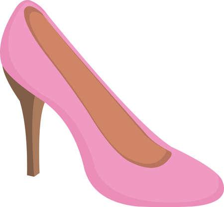 Vector illustration of women's high heels shoe