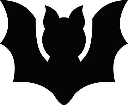 Vector illustration of a bat symbol