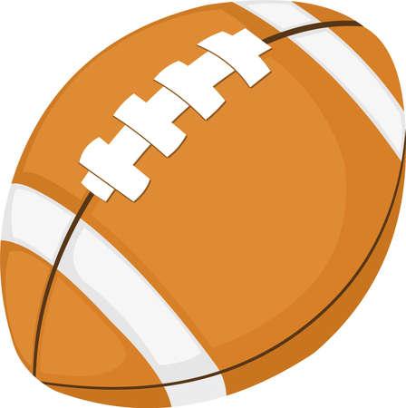 Vector emoticon illustration of an American football ball