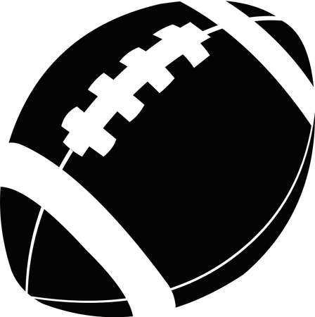 Vector illustration of an icon of an American football or rugby ball