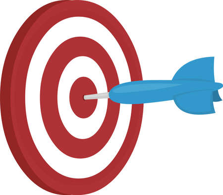 Vector illustration of classic darts game emoticon