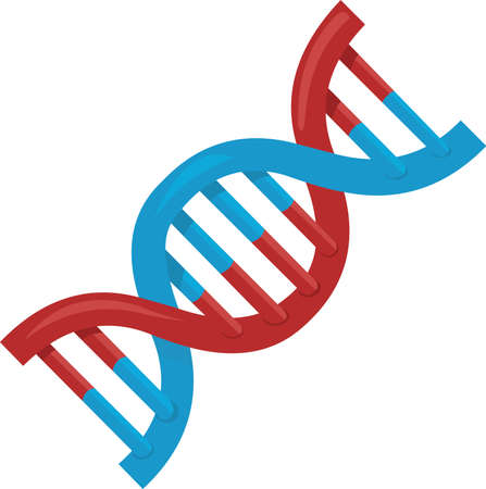 Vector illustration of DNA emoticon