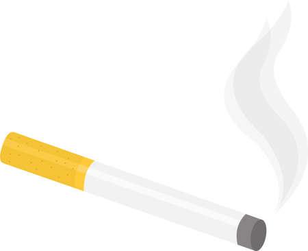 Vector illustration of a cigarette emoticon Illusztráció