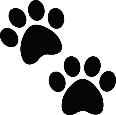 Vector illustration of paw prints emoticon Vettoriali