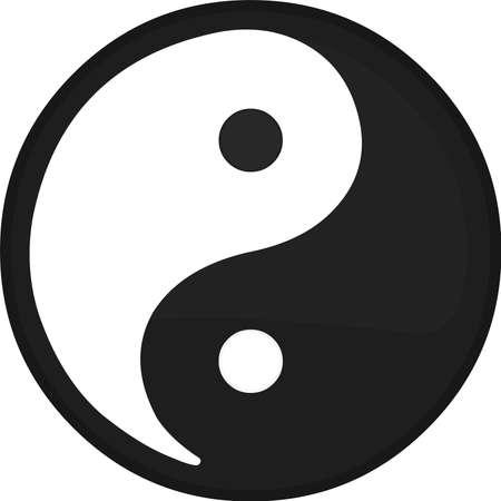 Vector illustration of ying and yang