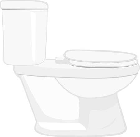 Vector illustration of emoticon of a toilet Çizim
