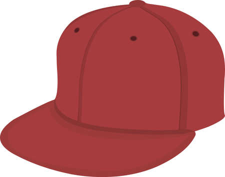 Vector illustration of emoticon of a red hat
