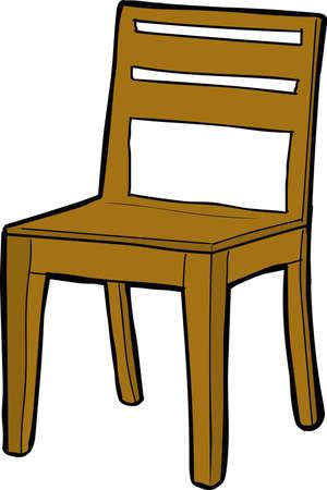 Vector illustration of a wooden chair Vektoros illusztráció