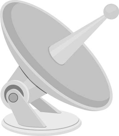 Vector illustration of emoticon of a satellite antenna Vektorgrafik
