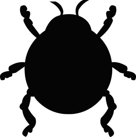 Illustration of emoticon of the silhouette of an insect