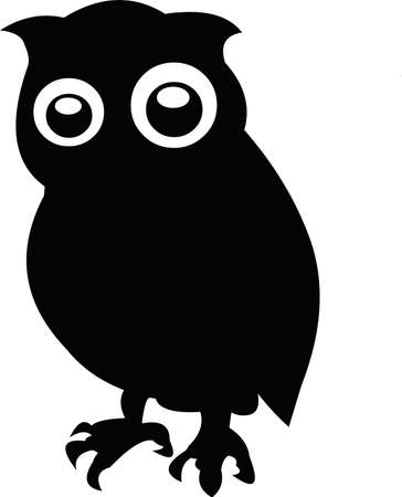 Illustration of the silhouette of an owl