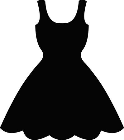 Vector illustration of the silhouette of a dress 일러스트