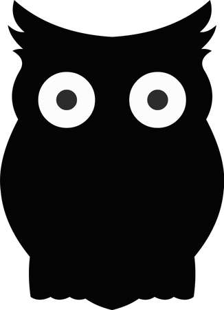 Vector illustration of the silhouette of an owl Illustration