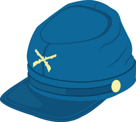 Vector emoticon illustration of a war hat Ilustração