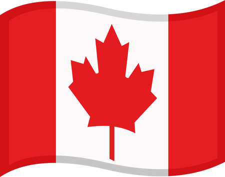 Vector illustration of emoticon of canada flag