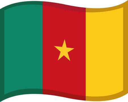 Vector emoticon illustration of Cameroon flag