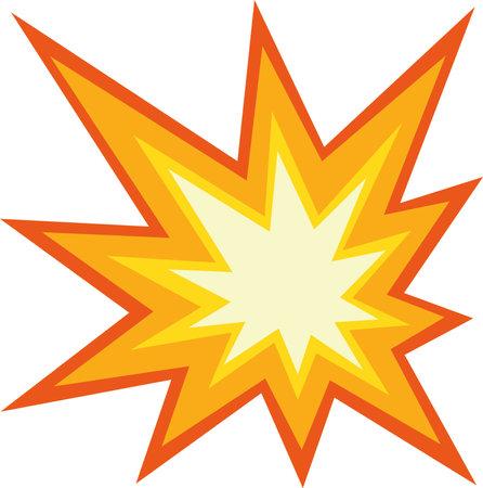Vector illustration of a collision emoticon