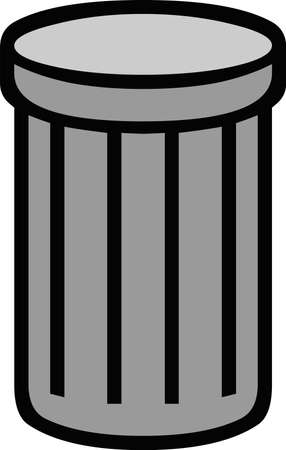 Vector illustration of a trash can icon