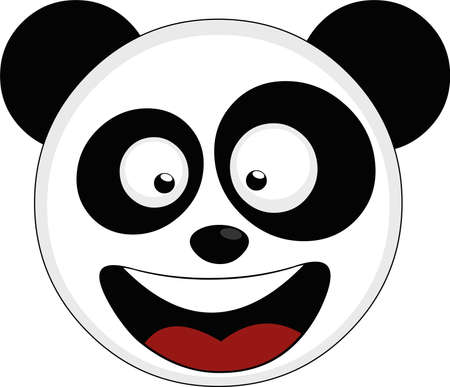 Vector illustration of the face of a panda bear cartoon
