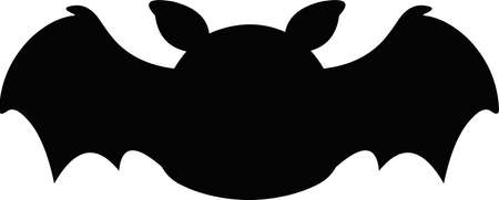 Vector illustration emoticon of the silhouette of a cartoon black rodent bat animal Иллюстрация