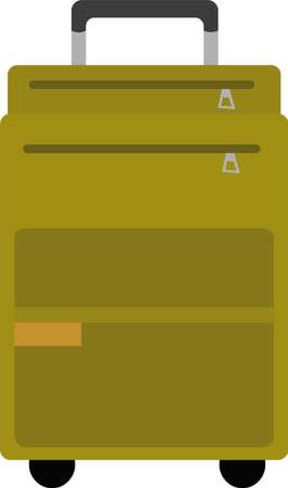 Vector emoticon illustration of a luggage suitcase