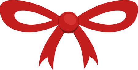 Vector emoticon illustration of a red bow