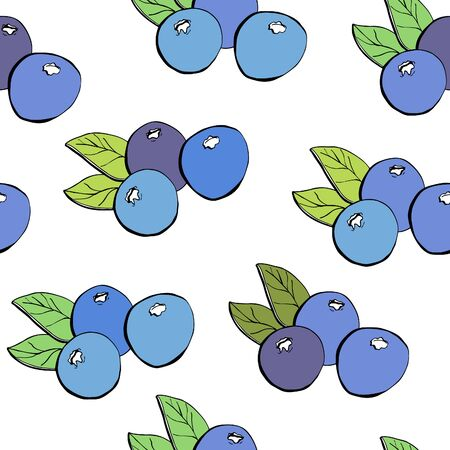 1,699 Blueberries Pattern Stock Vector Illustration And Royalty ...