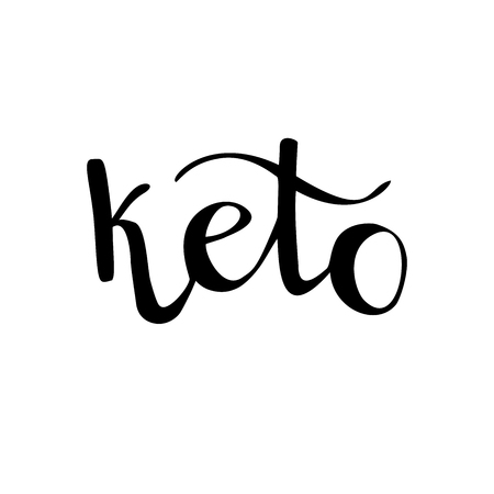 Keto word on white background Stock Vector - 122492479