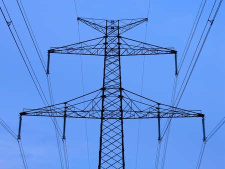 Power line, high voltage tower Reklamní fotografie