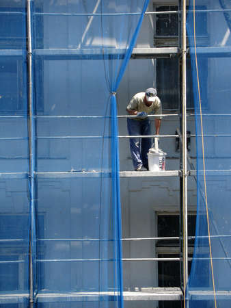 Builder on scaffolding