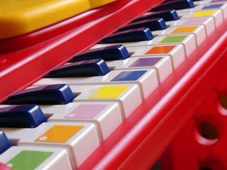 Plastic childrens keyboard