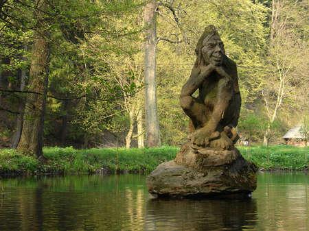 Water Goblin (Gollum like), Peklo, Czech republic Reklamní fotografie