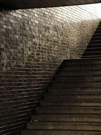 Void passage with dirty stairway Reklamní fotografie
