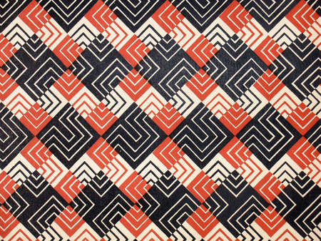 foursquare: Vintage pattern, wallpaper with labyrinth squares                              Stock Photo