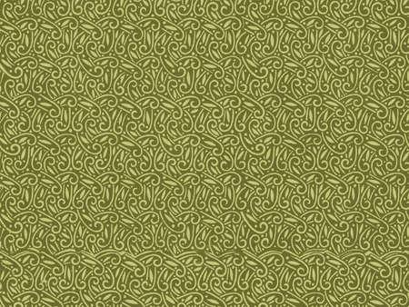 Vintage wallpaper pattern in green