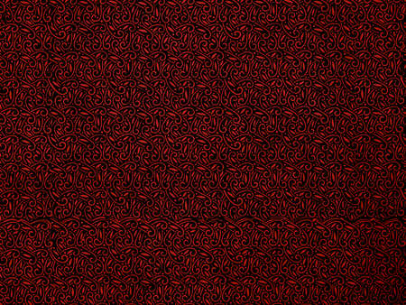 Vintage wallpaper pattern in red and black Stock Photo