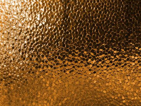 Fancy glass pattern, orange window with grainy surface