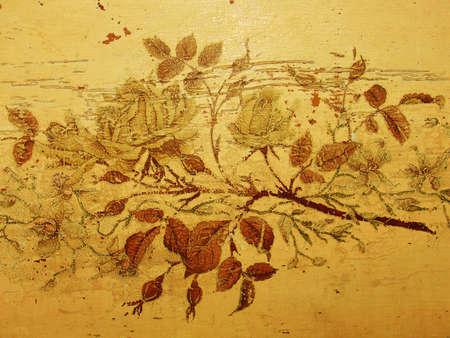 Grungy mill�sime roses, anciennes ou endommag�es dessin, meubles anciens