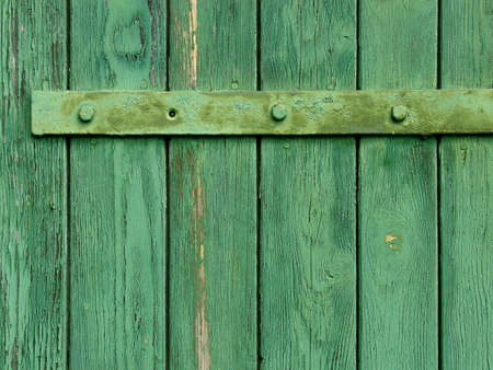Old weathered wooden gate, board texture, close-up