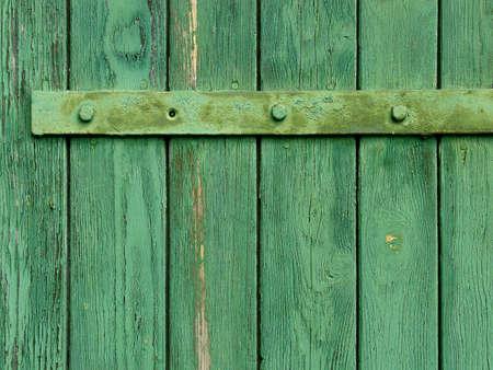 Vieille porte en bois surmont� d'administration de texture, close-up  Banque d'images