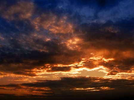 Dark sunset sky, dramatical scene for background