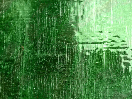 Glass level, texture in green, window with grainy surface     Stock Photo