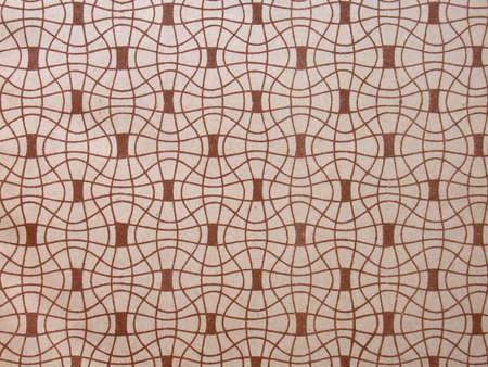 Utilis�e avec le papier peint vintage tildes, mod�le en brun, 1920 Banque d'images