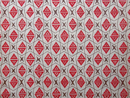 Used vintage wallpaper, pattern with triangles, ca 1920s