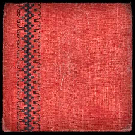 Vintage canvas cover with space for text or image