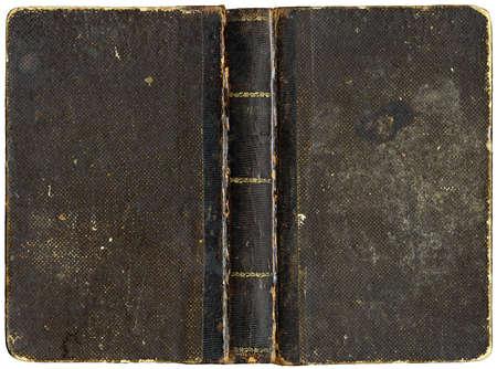 Couverture de livre ancien - circa 1880 - isol�es sur blanc Banque d'images