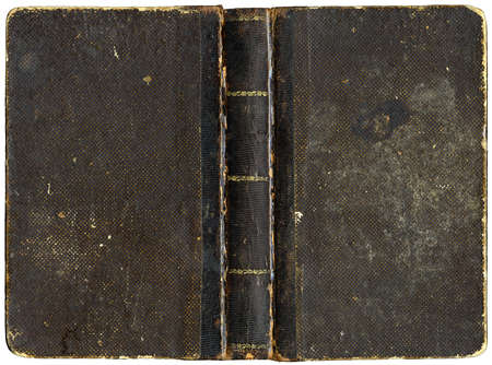 Old book cover - circa 1880 - isolated on white Stock Photo