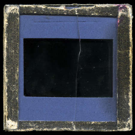 Vintage slide frame - very grainy, grungy surface