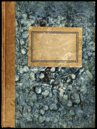 Vintage Diary - ordinateur portable avec �tiquette vide - surface granuleuse