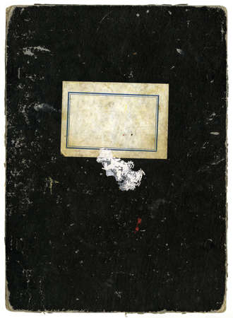 Vintage school notebook with copy-space